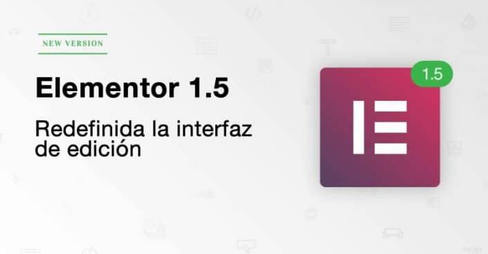 Nuevo elementor 1.5