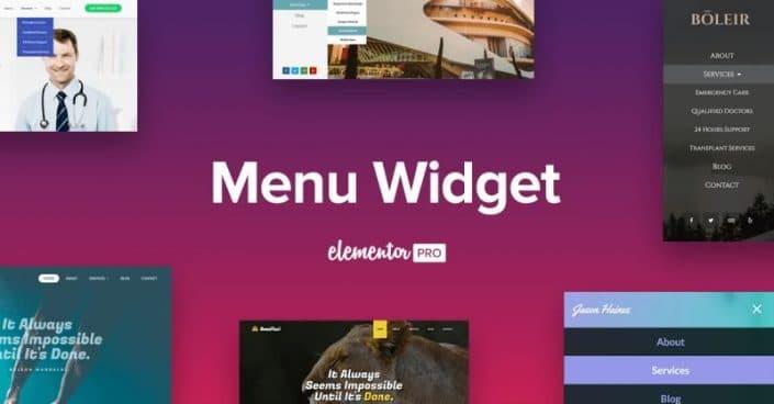 Widget para menús de Elementor