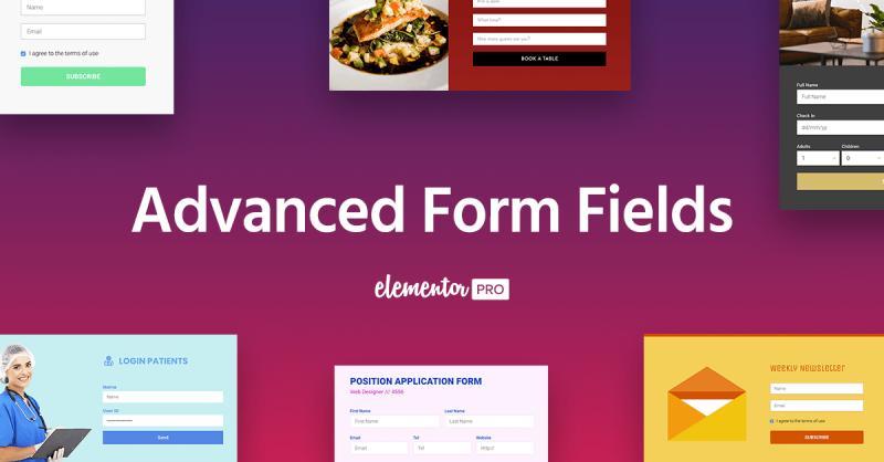 campos avanzados para formulario con Elementor Pro