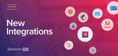 Nuevas integraciones con email marketing de Elementor